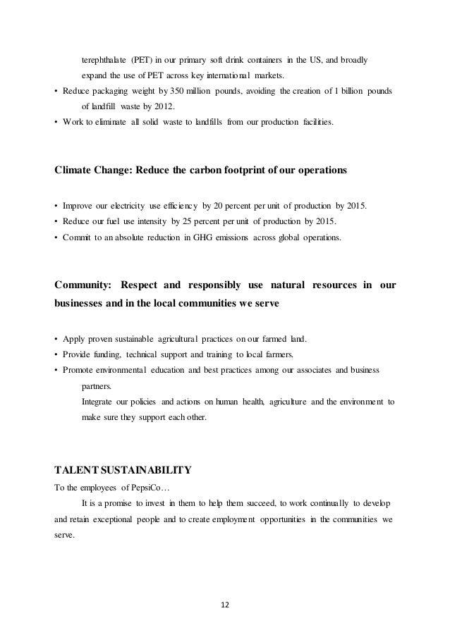 Internship report pepsico distribution percent recycled polyethylene 12 fandeluxe Images