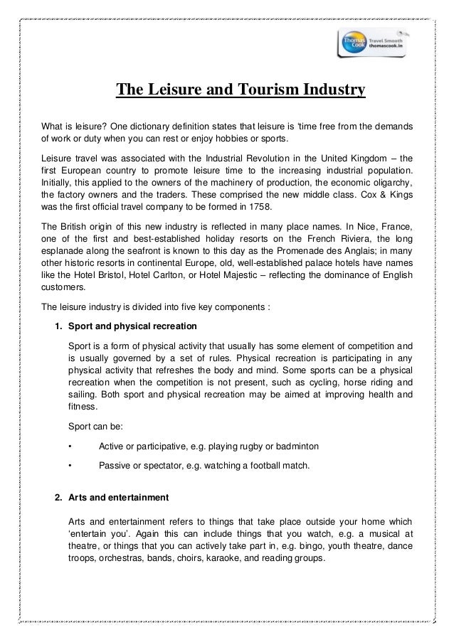 Internship report thomas cook india ltd