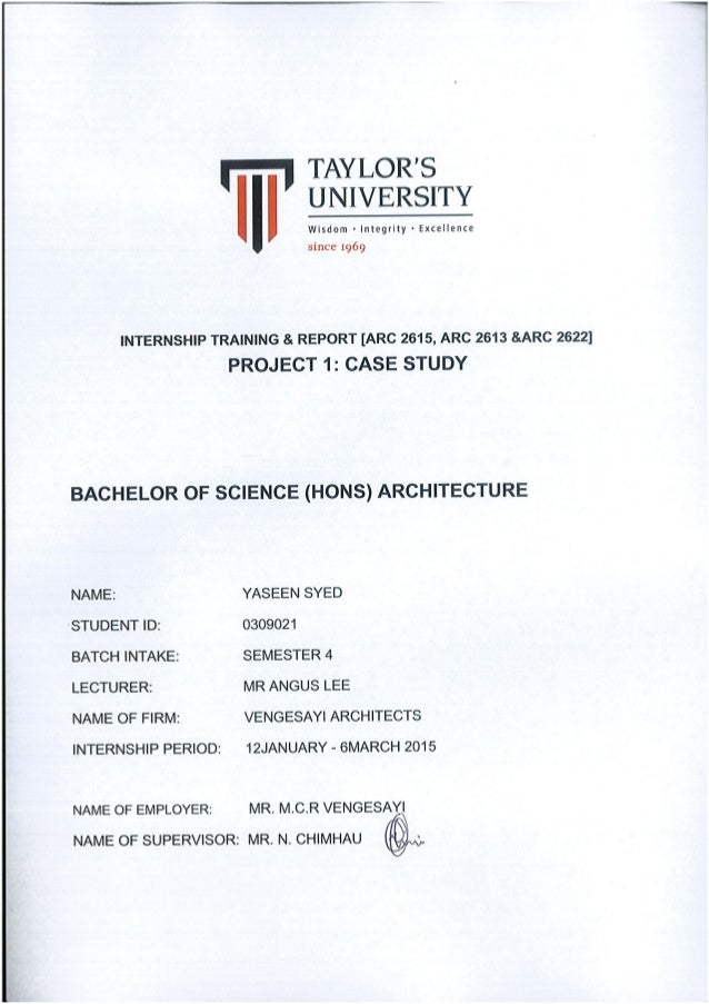 Internship report 2015 yaseen syed