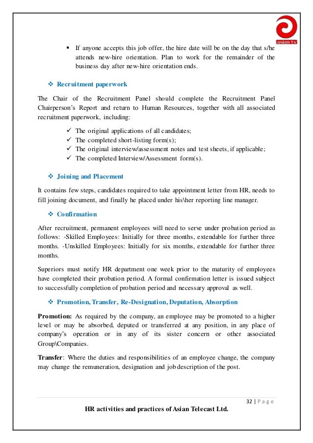 report on 3 hr activities that Human resource management journal, vol 13 no 3, 2003, pages 21-36  valid  reports of hr practice measures, the proper level of analysis and proximity of.