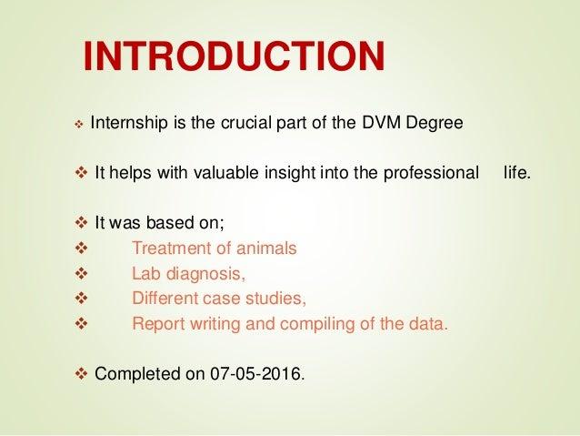 Internship report at uvas medical