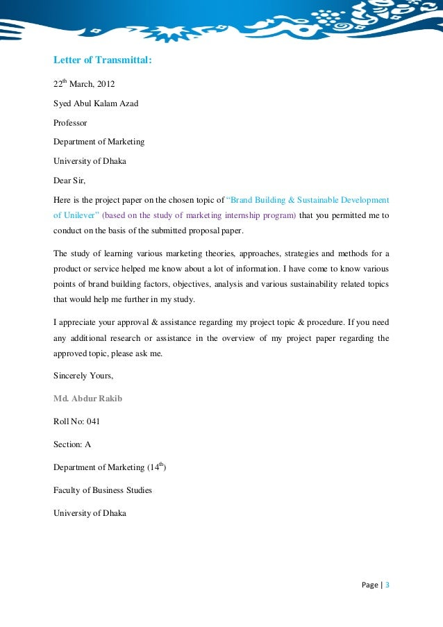 Sample cover letter for Internship position at hotel