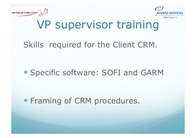 Fourth Activity CRM Software: SOFI – GARM (1/2) 1- NPAI / SIPS. 2- Delivery details and parcel tracking / Investigation 3-...