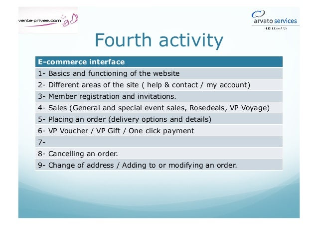 Fourth Activity Software: SOFI – GARM (2/2) 5- Damaged products 6- Returns 7- Warranty 8- Technical problems 9- Unsettled ...