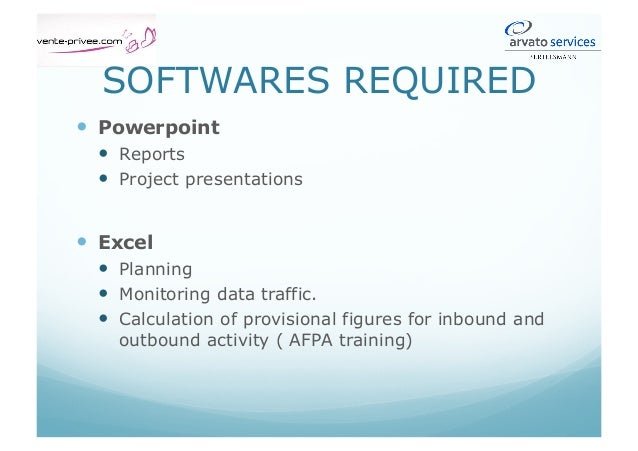 Software required (3)  NICE Performer: recorded inbounds listening.  SOFI – GARM: CRM treatment  OUTLOOK: daily repo...