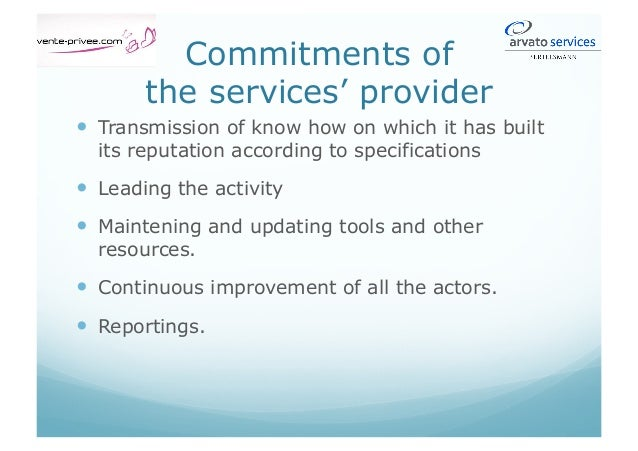 Services provided Back office and inbounds Evolution of services' nature by amendment Possible outbound activity