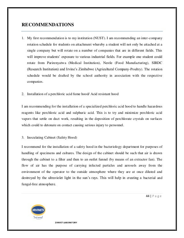 final report on industrial attachment at knbs Guidelines for writing internship/industrial attachment report 2 internship/industrial attachment is an integral part of undergraduate degree program at ait revise a second time on the basis of this criticism your final version should be.