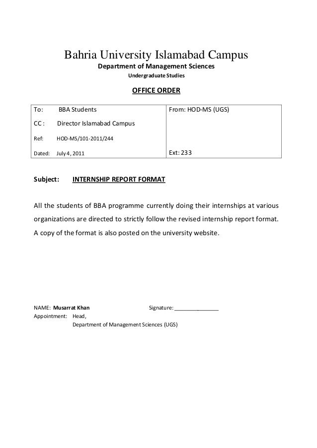 email format for internship