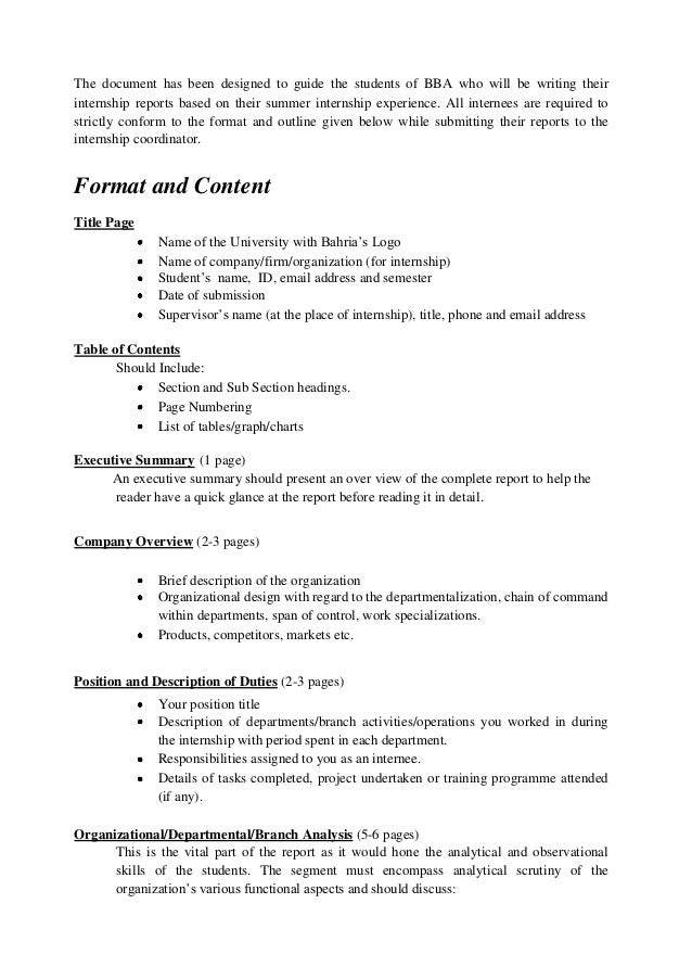 internship report format Format of the internship report 1 acknowledgement in this section, students  should acknowledge the support and help of people who helped in the  completion.