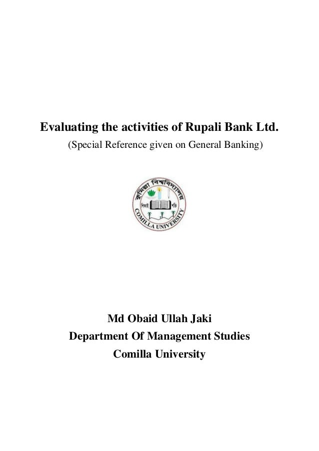 "pdf report on general banking activities of janata bank ltd The topic of this report is ""general banking activities of one bank limited and its impact on economic more about internship report in janata bank limited."