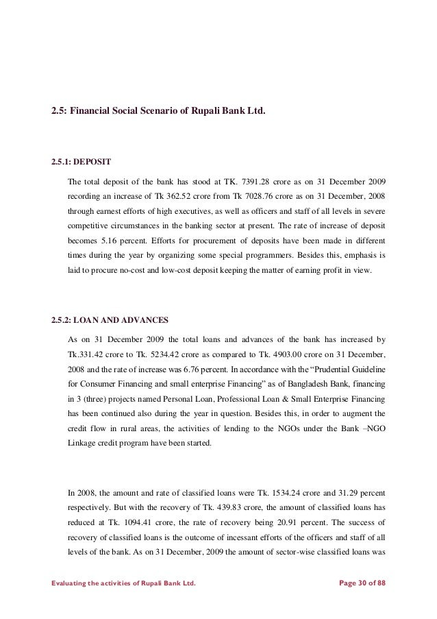 report of rupali bank ltd National bank limited limited has its prosperous past, glorious present, prospective future and under processing projects and activities established as the first.