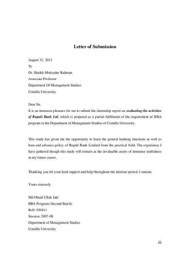Internship report on rupali bank limited comilla corporate branch 6 iii letter altavistaventures Gallery