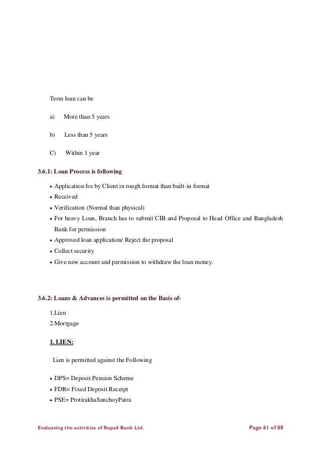 Internship report on Rupali Bank limited ( Comilla corporate