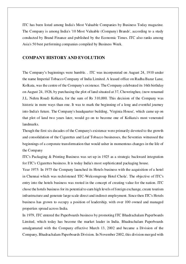 report on itc Focus: itc's world-class indian brands board of directors and committees 01  report on corporate governance 12 shareholder information.