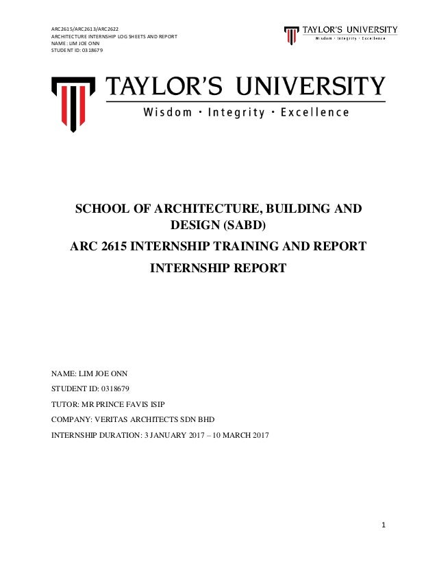 architecture internship report Student internship program initial internship report the department of civil and architectural engineering thanks you for your interest in providing.