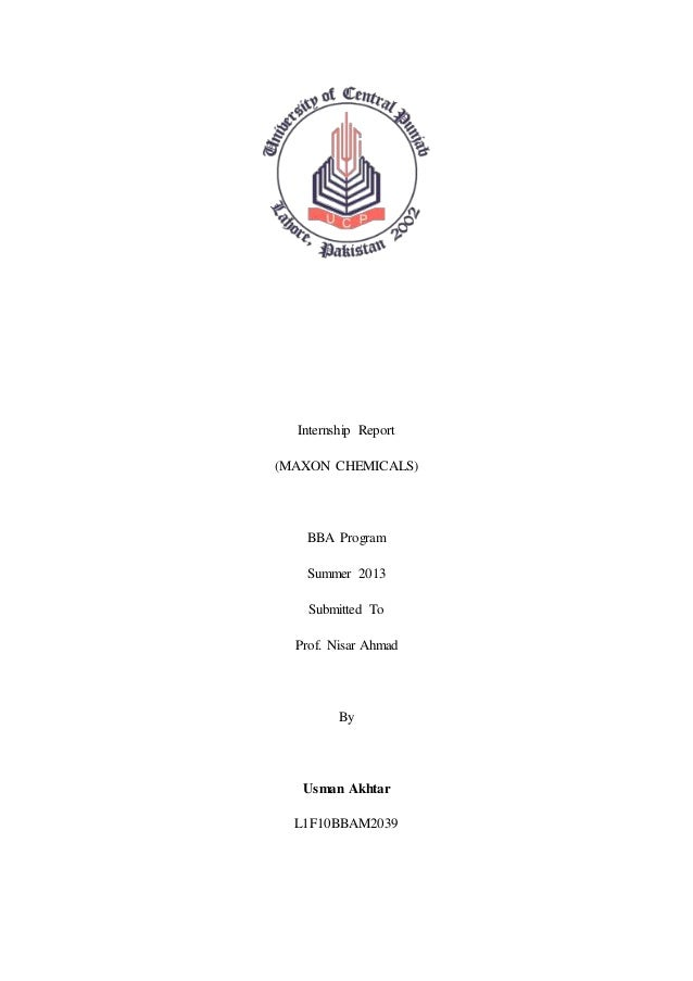Internship report Maxon