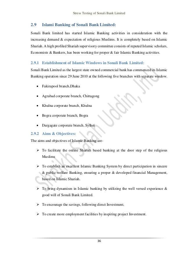 internship report of bba on stress testing stress