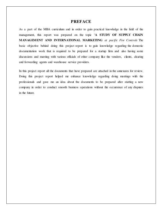Internship report on front office