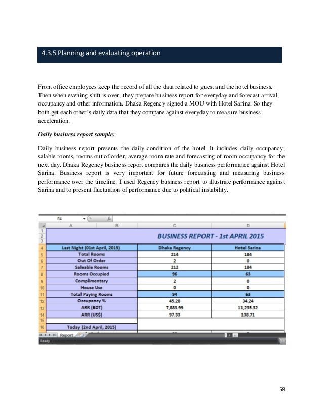 daily business report