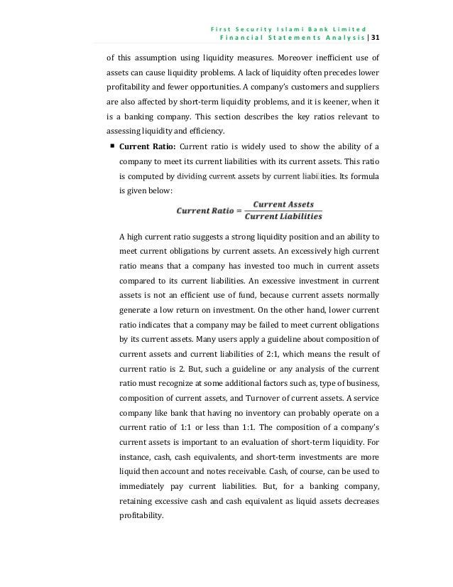internship report on liquidity and profitability analysis Performance evaluation and ratio analysis of different aspects of performance such as profitability ratios, liquidity does not report.
