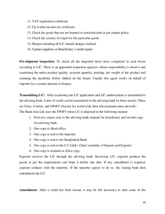 intern report on bank asia ltd View internship report on brac bank ltddoc from finance f-303 at university of dhaka sme loan activities and reconciliation process of brac bank part one introduction 101 background of the.