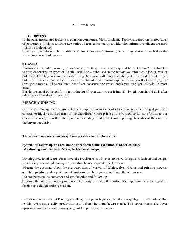 internship report on merchandising Free essays on internship report on merchandising process of inditex in beximco textile bangladesh for students 1 - 30.