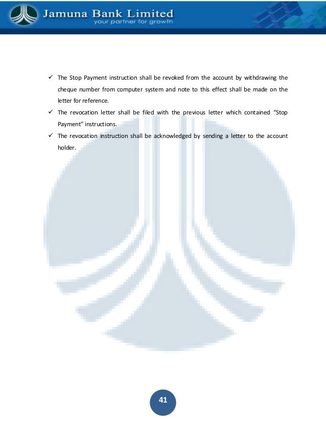 Internship report on general banking division of jamuna bank by lectu 40 49 the stop payment spiritdancerdesigns Gallery