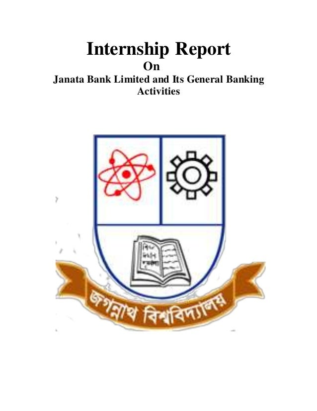 Internship report on generalbanking ofjanata bank