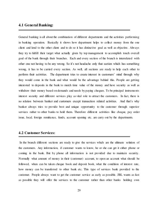internship report on janata bank essay Relying on the format of previous students' final papers guidelines for writing the report of internship activities 8 assess your own strengths, needs, and.
