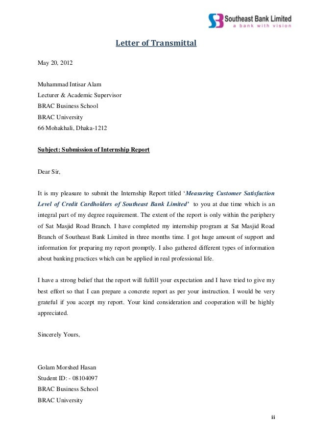 Internship report on measuring customer satisfaction level of credit 2 ii letter thecheapjerseys Gallery
