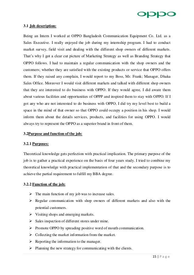 Internship Report On Oppo