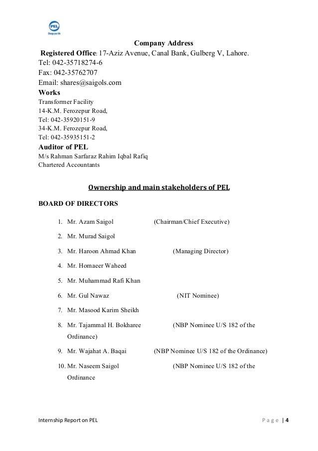internship report on pel Report company verified  pak elektron limited (pel) is the flag bearer of the  saigol group of  pak elektron limited (pel) lahoremay 8 at 10:29am.
