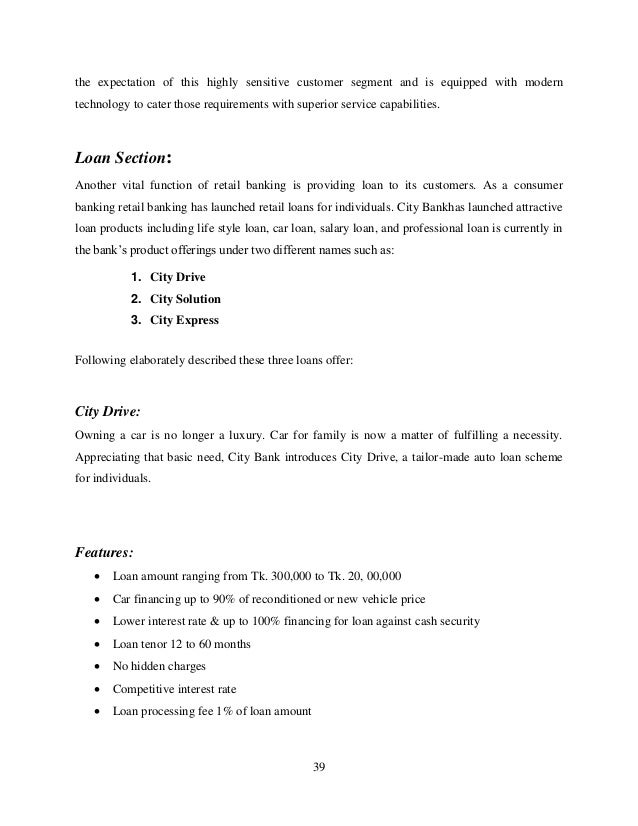 internship report on retail banking Retail banking group table – b: grade structure at habib bank limited 58 1 internship report on habib bank ltd chapter.