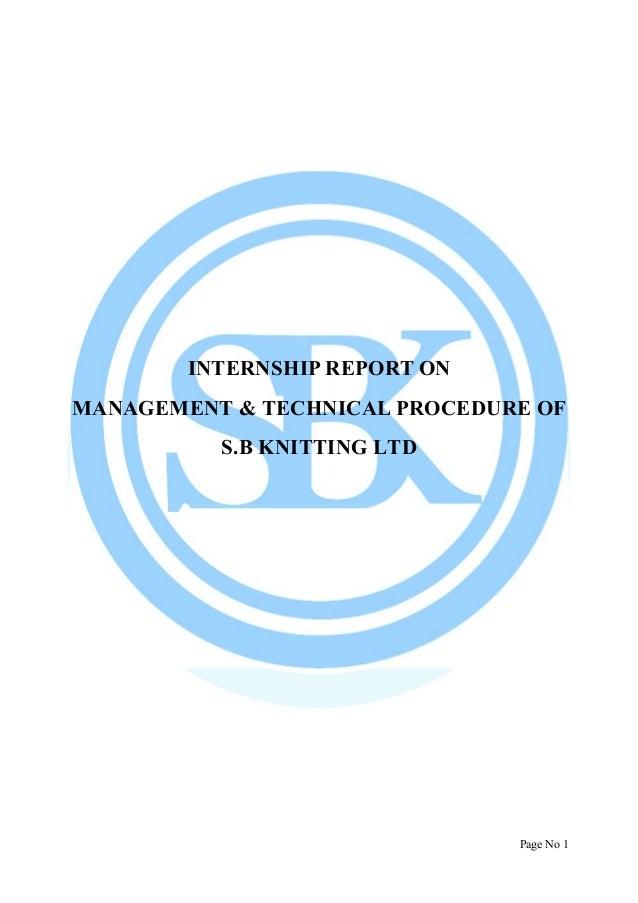 Internship report on sb knitting ltd