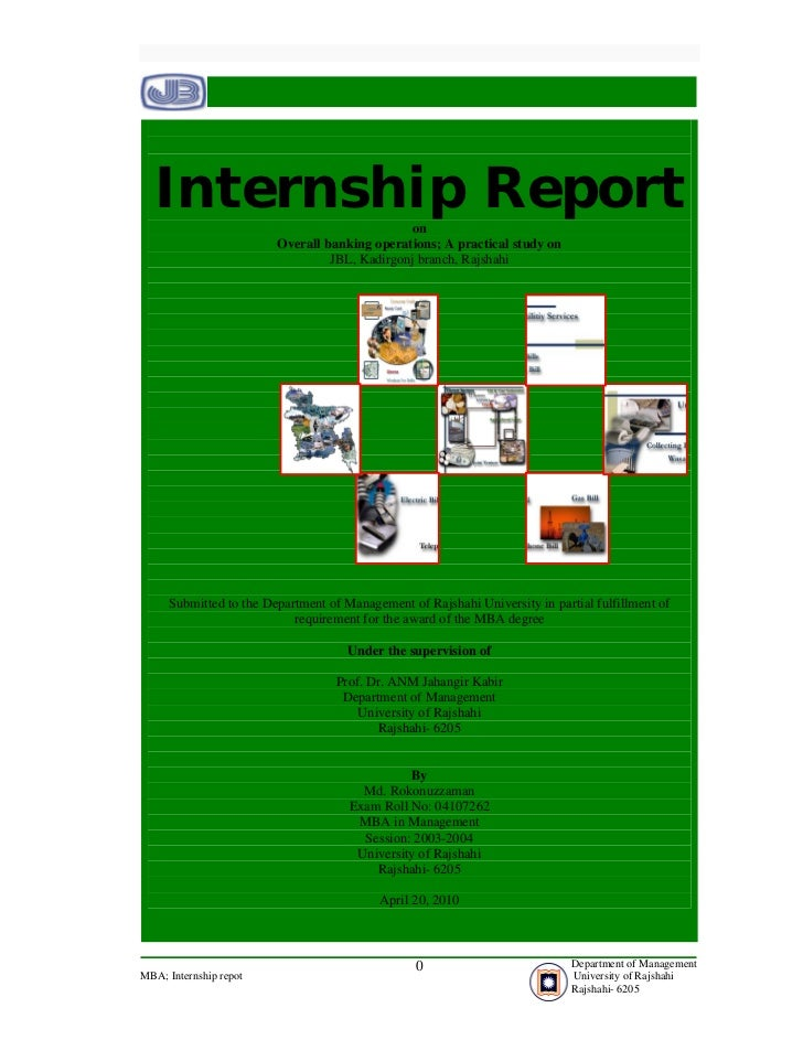 Internship Report                           on                        Overall banking operations; A practical study on    ...