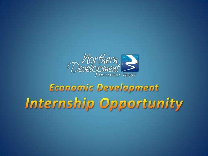 Economic DevelopmentInternship Opportunity<br />