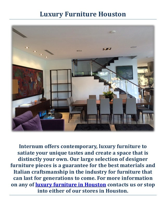Internum Luxury Furniture In Houston Tx
