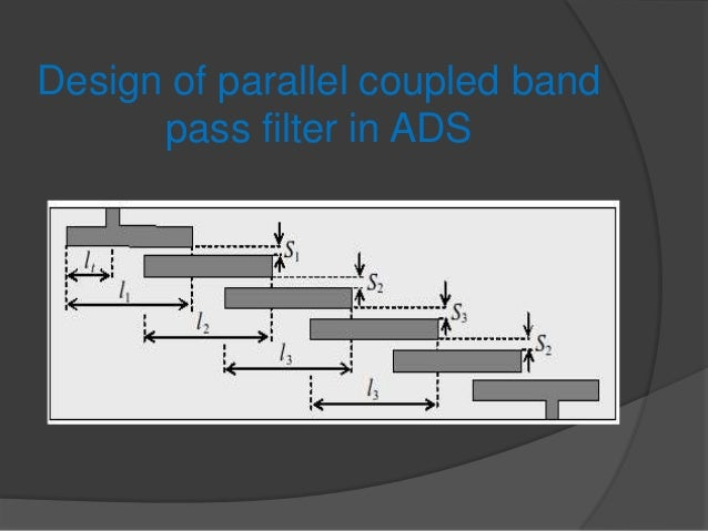 Design of parallel coupled band      pass filter in ADS