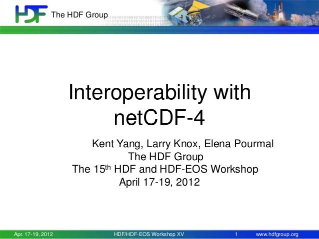 The HDF Group  Interoperability with netCDF-4 Kent Yang, Larry Knox, Elena Pourmal The HDF Group The 15th HDF and HDF-EOS ...