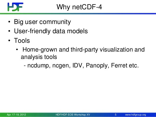Interoperability with netCDF-4 - Experience with NPP and HDF-EOS5 pro…
