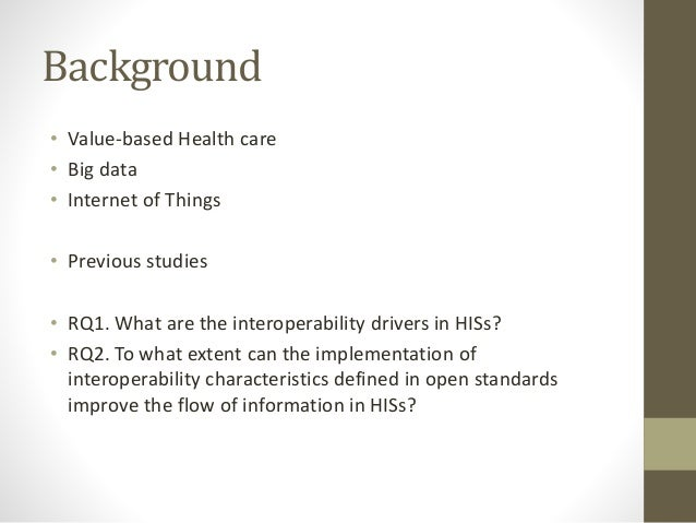 Interoperability in health care information systems Slide 3