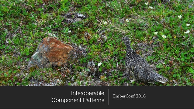 Interoperable Component Patterns EmberConf 2016