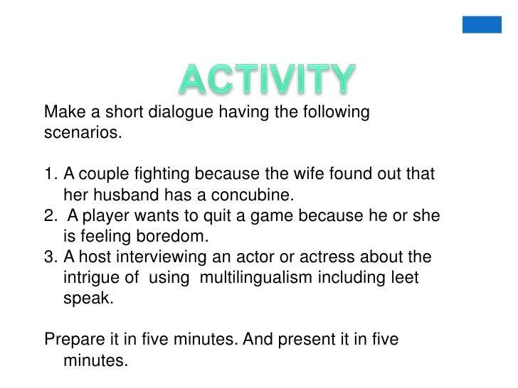 Interpersonal communication games