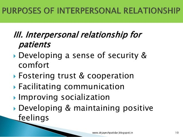 importance of interpersonal relationship pdf