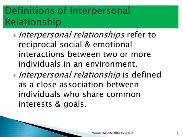 Smooth interpersonal relationship