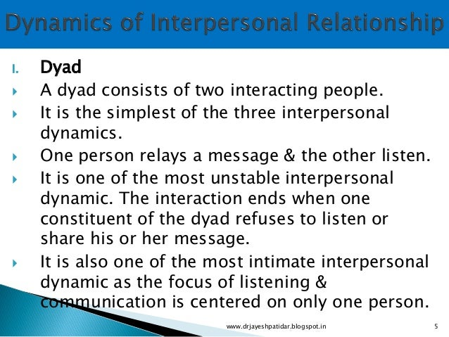 interpersonal relationship and group dynamics