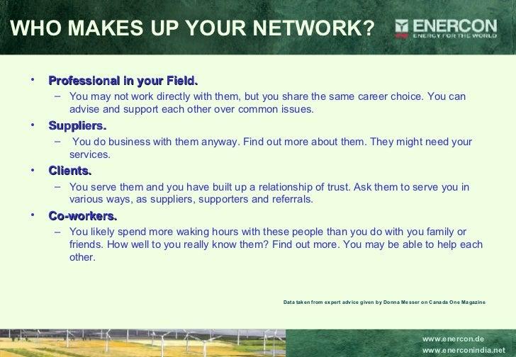 <ul><li>Professional in your Field.   </li></ul><ul><ul><li>You may not work directly with them, but you share the same ca...