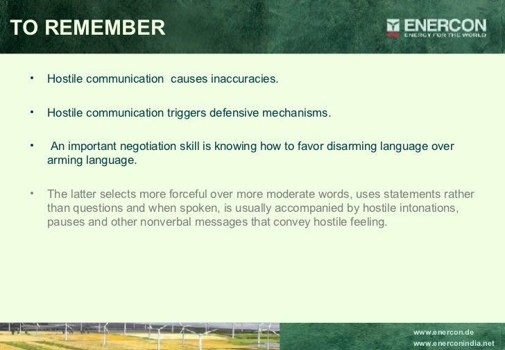 <ul><li>Hostile communication  causes inaccuracies. </li></ul><ul><li>Hostile communication triggers defensive mechanisms....