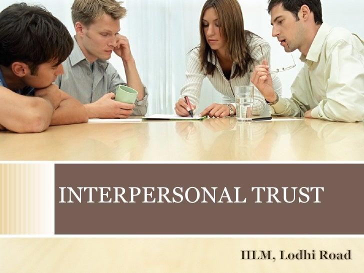 INTERPERSONAL TRUST