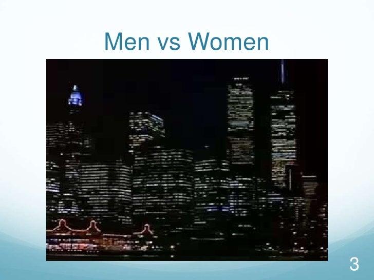 Men vs Women<br />3<br />